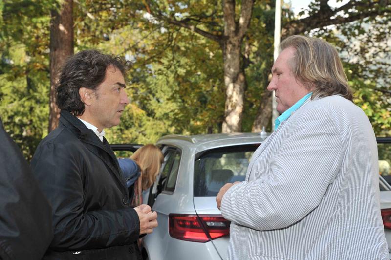 Cristiano Gatti con Gérard Depardieu