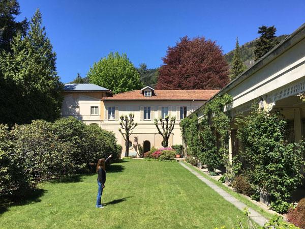 Parte del giardino di Casa Zegna