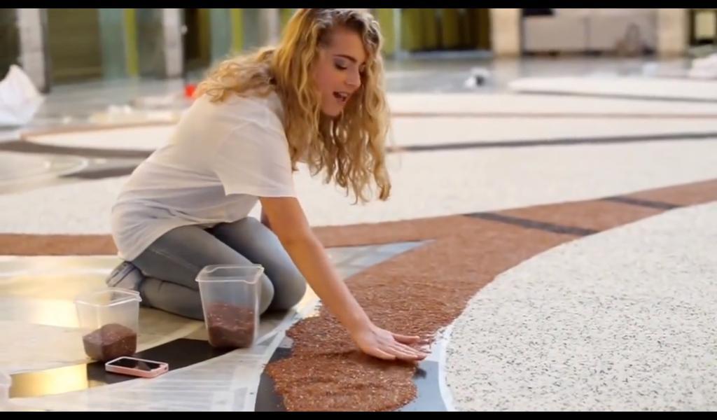 Un frame del video con protagonista la giovane Alessia Sgaravatto al Mandala di Riso 2015