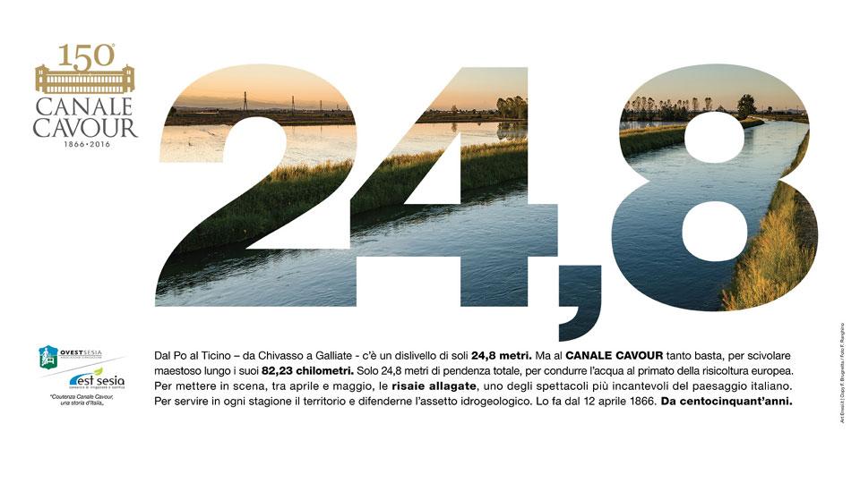 Canale Cavour (sullo sfondo, foto di Federico Ranghino)