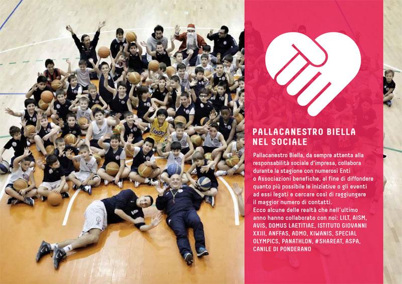 L'impegno di Pallacanestro Biella in campo sociale
