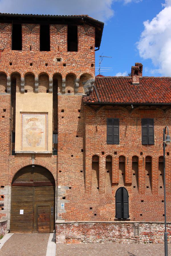 Il castello sforzesco di Galliate.