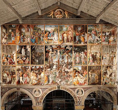 """La """"parete gaudenziana"""" in Santa Maria delle Grazie a Varallo."""