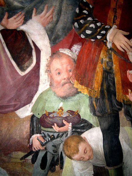 Un dettaglio della Vita della Vergine, opera di Gaudenzio Ferrari, nella chiesa di San Cristoforo a Vercelli