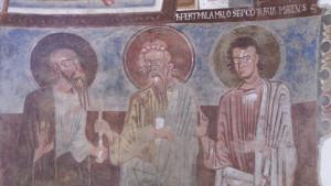 Carpignano Sesia, San Pietro In Castello, dettaglio affreschi