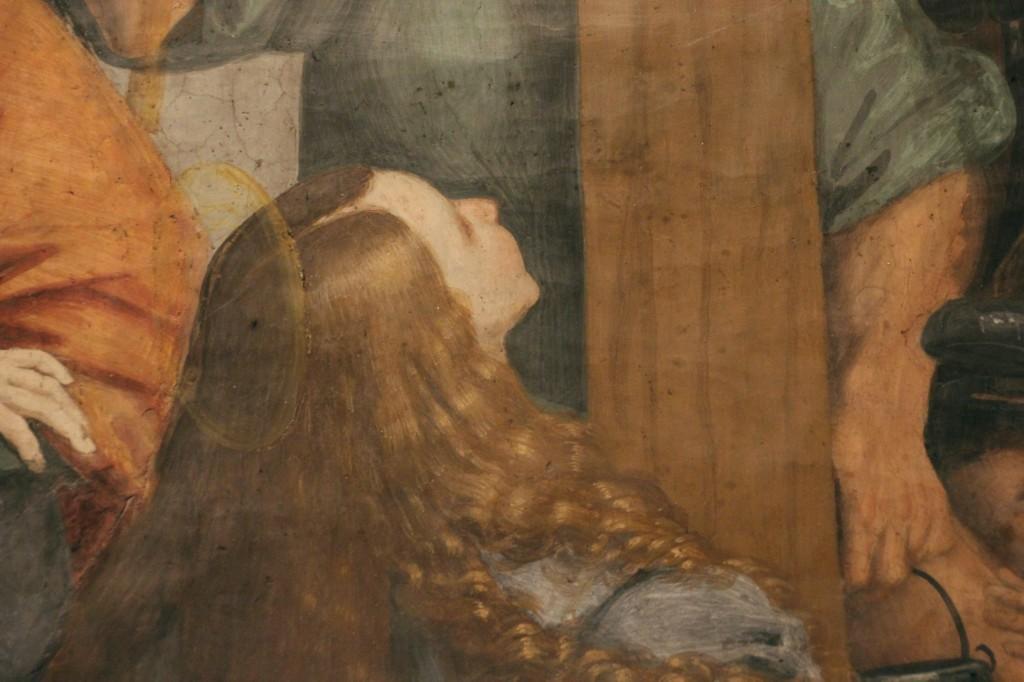 Particolare: la Maddalena ai piedi della croce