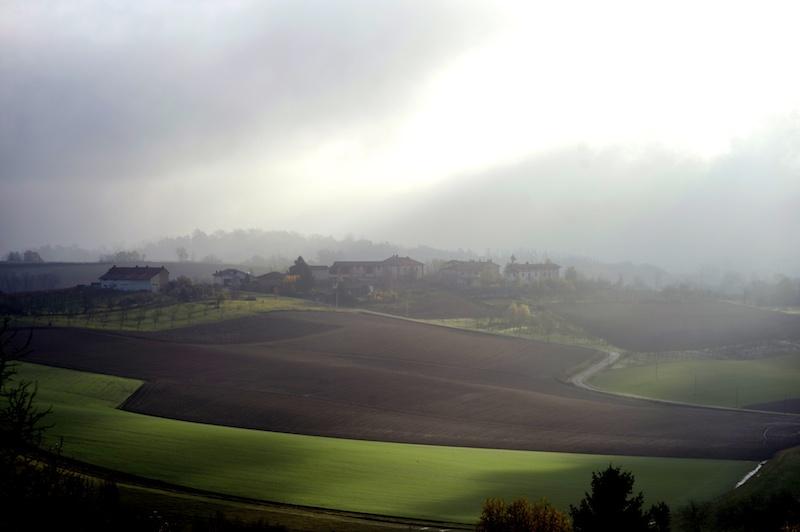 Vista delle colline del Monferrato dalla Locanda dell'Arte di Solonghello