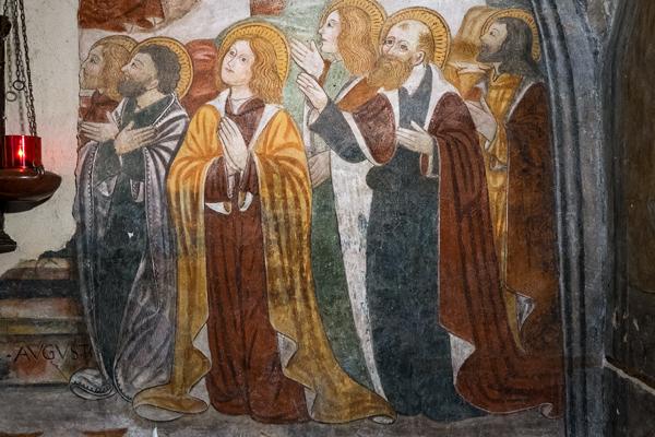 Chiesa dei Santi Pietro e Paolo a Castellengo (BI), particolare di un affresco (Foto: G. P. Marchiori)