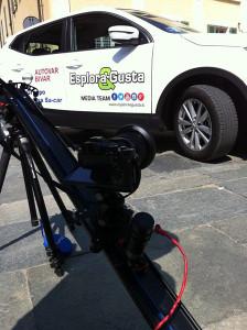 Il Media Team in alcune località del Vercellese