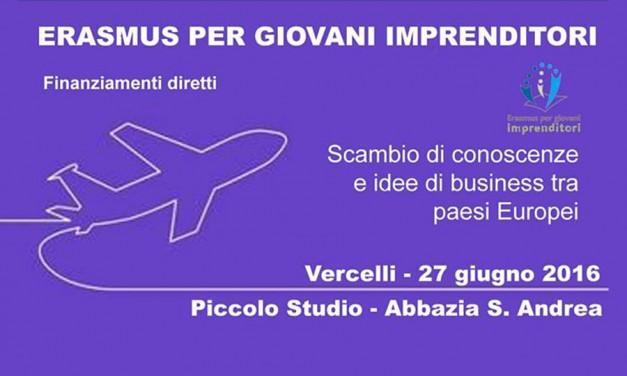 Erasmus per giovani imprenditori in Europa