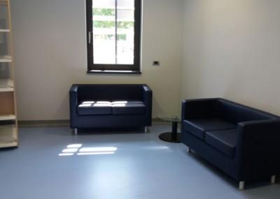 Un salotto di attesa e colloquio