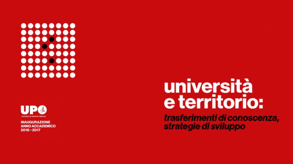 Università e territorio, inaugurazione dell'anno accademico UPO
